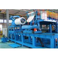 Quality Blue Color Hi Speed PU Sandwich Panel Machine , Polyurethane Sandwich Panel Manufacturing Line for sale
