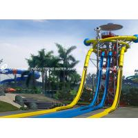 Quality Extraterrestrial Fiberglass Water Slides / Park Open Spiral Water Slide New Style Water Slide for sale