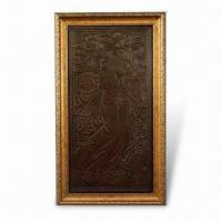 China 3-D Relievo Painting, Made of PU Leather, Measures 65.5 x 37.5cm, Suitable for Decorating Homes on sale