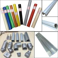 China Assemble Pipe Rack Product Parts Plastic Coated Pipe and Aluminum round pipe and joint System on sale