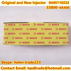 Quality BOSCH Original Injector 0445110232 for HYUNDAI/KIA 338004A400 /338004A410 /338004A420 for sale