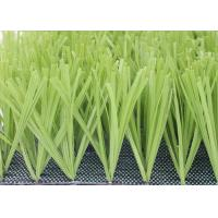 China Comfortable Football Field Artificial Grass With PP + NET Backing Light Green on sale