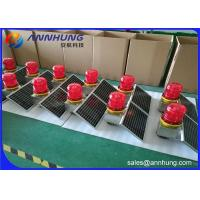 Quality Low - Intensity L810 Solar Aviation Warning Lights For Wind Turbine / High Chimney for sale