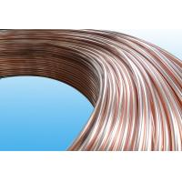 0.55mm Low Carbon Copper Coated Bundy Tube For Freezer , Bundy Tubing Company for sale