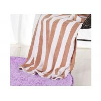 Quality Hotel 100% Cotton Beach Towels , Rectangle Cotton Terry Towel Water Soluble for sale