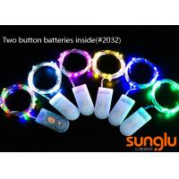 China 2M 20D 0603 LED Decorative Indoor String Lights Two Button Battery For Holiday on sale