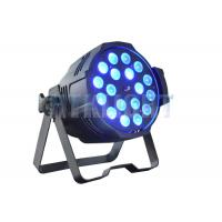 Quality 18x18W RGBWA + UV Zoom Par LED Stage Wash Lights / Color Changing Stage Lights for sale