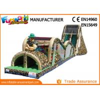 Quality Indoor Or Outdoor Mega Inflatable Assault Course With Digital Painting for sale