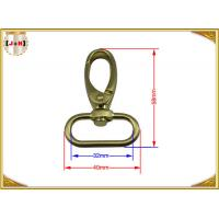 Quality Quick Release Brass Plating Swivel Snap Hooks With Oval Ring Environmental Protection for sale
