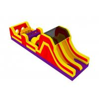 China Colorful Outdoor Inflatable Obstacle Course With Slide And Climb 0.55mm PVC Tarpaulins on sale