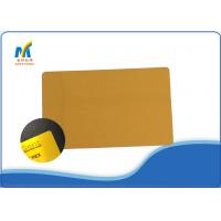 Buy Gold Color Sublimation Metal Business Cards 0.22mm Thickness 86*54mm Straight at wholesale prices