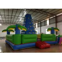 Quality Durable Inflatable Rock Climbing Wall Trees Digital Printing 7 X 7m Safe Nontoxic for sale
