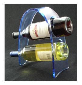 Quality Transparent Acrylic Wine Bottle Display Rack , Plexiglass Bottle Holder for sale