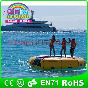 Amusement inflatable water play equipment floating trampoline orbit water trampoline