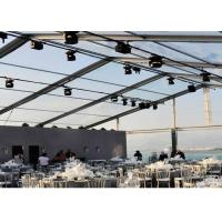 Weather Proof Large Clear Span Tent Fast To Install / Dismantle Transparent
