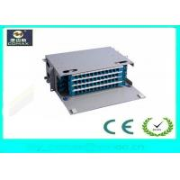 Quality 48 Port Rack Mount Fiber Optic Distribution Box 19 Rack Mount Easy Close / Open for sale