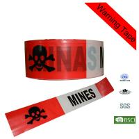 Quality 200m Red Non - adhesive Warning Printed Safety Custom Barricade Tape for sale