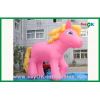 Quality Custom Pink Horse With Yellow Tail Inflatable Cartoon Characters for sale