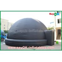 Quality Black Blow Up Inflatable Mobile Planetarium Dome Projection Tent With Air Blower for sale