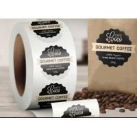 Quality Custom Logo Self Adhesive Labels , Custom Roll Label Stickers For Food Coffee Package for sale