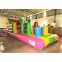 Quality Inflatable Beach Bouncy Castle Assault Course , Big Party Funny Obstacle Course Jumpers for sale