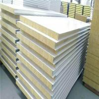 China 50mm grey white z-lock rock wool sandwich exterior wall panels with 0.426mm on sale