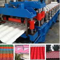 Quality Hydraulic Pressing Roof Color Steel Tile Roll Forming Machine in Blue for sale