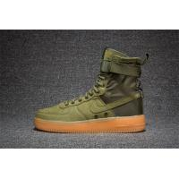 Buy Light Bone 2017 fashion Nike AIR FORCE SF AF1 859202-339 Army Green men's trainers at wholesale prices