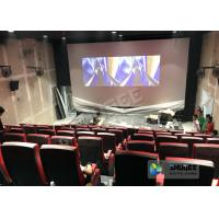 Quality Synthetic Leather 4D Movie Theater With Many Special Effects And Customization Logo for sale
