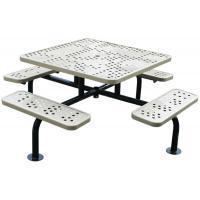 Quality Recycled Outside 4 Picnic Table , Square / Round Metal Picnic Table With Benches for sale