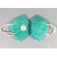 Quality Factory Stock Kn95 Face Mascarilla 5 Ply Green Dust Mask With Valve for sale