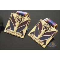 Quality Royal 10K And 15K Custom Sports Medals Soft Enamel Color With Sublimated Ribbon for sale