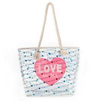 Quality Womens Non Toxic PVC Tote Bag Environmental Friendly With Sweet Heart Printing for sale