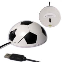 China New fashion design football shape 800 DPI basic optical mouse fit for laptop / desktop for sale