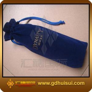 Quality velvet wine bag for sale