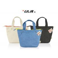China Denim Canvas Tote Bags Simple Japanese Style Light - Weight 22*22*16CM Size for sale