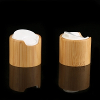 Quality Natural Bamboo Lid Wooden Screw Cap For Cosmetic packaging Bottle for sale