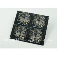 Buy Black Solder Multilayer Printed Circuit Board Gold Plating Pannelized Fiducial Mask at wholesale prices