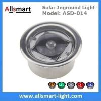 Quality Round LED Accent light Solar Powered Marker Lights Swimming Pool Edge Lights Solar Dock Deck Lights for sale