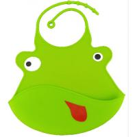Quality Safe Silicone Baby Bibs Water Resistant With Food Catcher Customer Size for sale