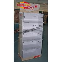 Quality Tiered Free floor Corrugated Pop Display for supermaket for sale