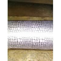 Quality Flower Pattern PU / PVC / Synthetic Leather Knurled Rollers , Engraving Rolls for sale