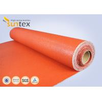 Quality Texturized Heavy Duty Insulation Silicone Coated Fiberglass Fabric Roll Fireproof for sale