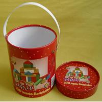 China Customized Round Tube Glossy Cardboard Paper Toy Models Box with Plastic Handel on sale