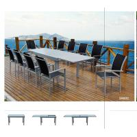 Quality Extendable Dining Table Set for 12 All Weather Outdoor Furniture With Tempered Glass for sale