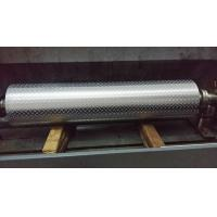 Quality Non - Ferrous Metal / Leatheroid / Leather Embossing Rolls , Knurled Rollers for sale
