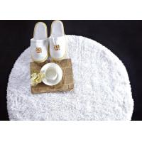 Quality Washable White Waffle Disposable Spa Slippers , Disposable Hotel Bathroom / Guest House Slippers for sale