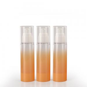 Quality Orange 50ml Cylinder Empty Plastic Lotion Bottles for sale