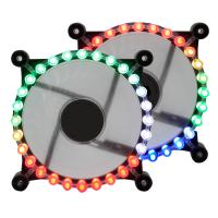 Buy cheap newest 12cm RGB fan pc gatling case fan with rainbow from wholesalers