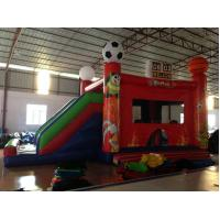 Quality New inflatable football bouncer house inflatable baseball jump house soccer bouncer with slide for sale